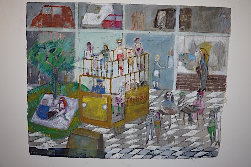 "The Seventh: ""Breakfast at Ti Fanny"" (32 ""x 46"")"